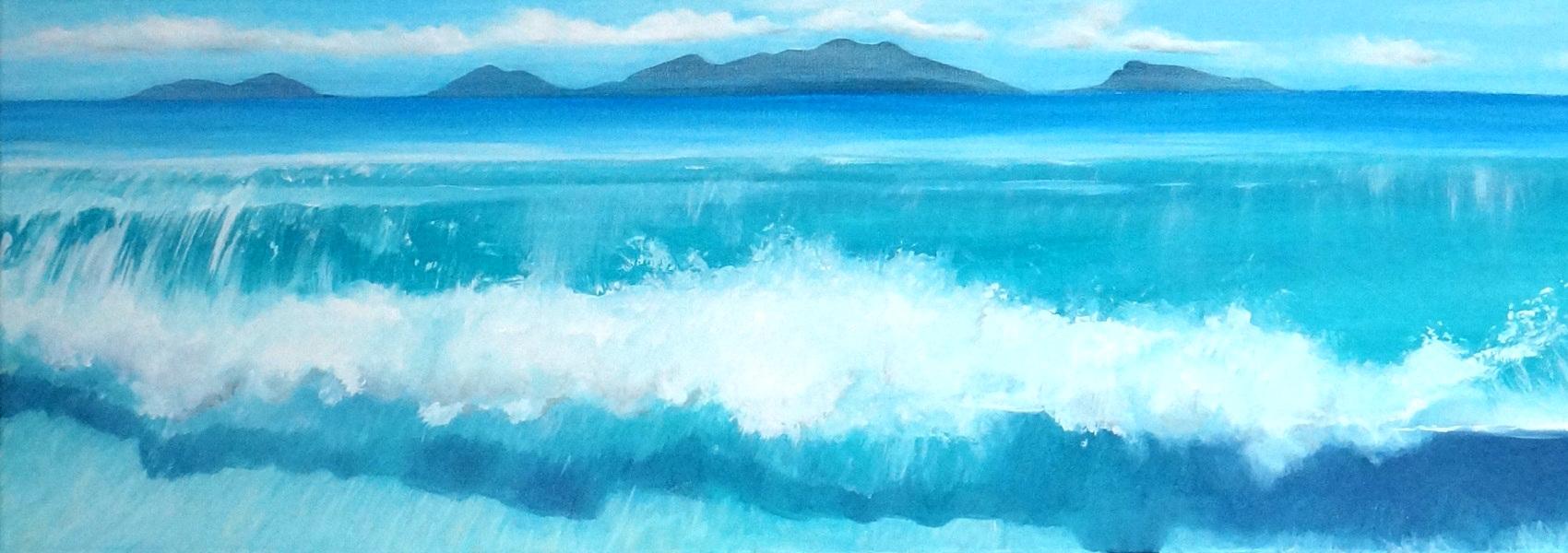 Horizont 2 | Öl auf Leinwand | 35 x 100 cm