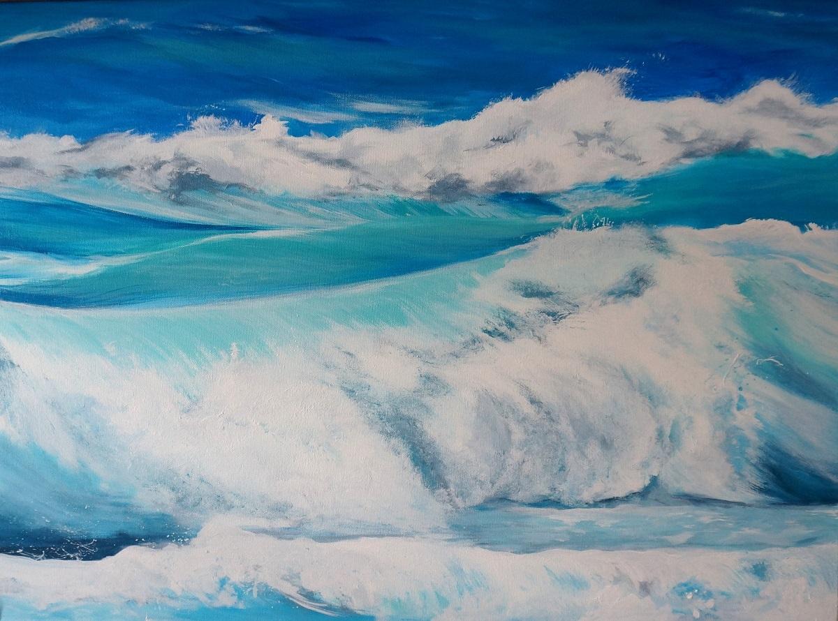 Wellengang | Acryl auf Leinwand | 60 x 80 cm