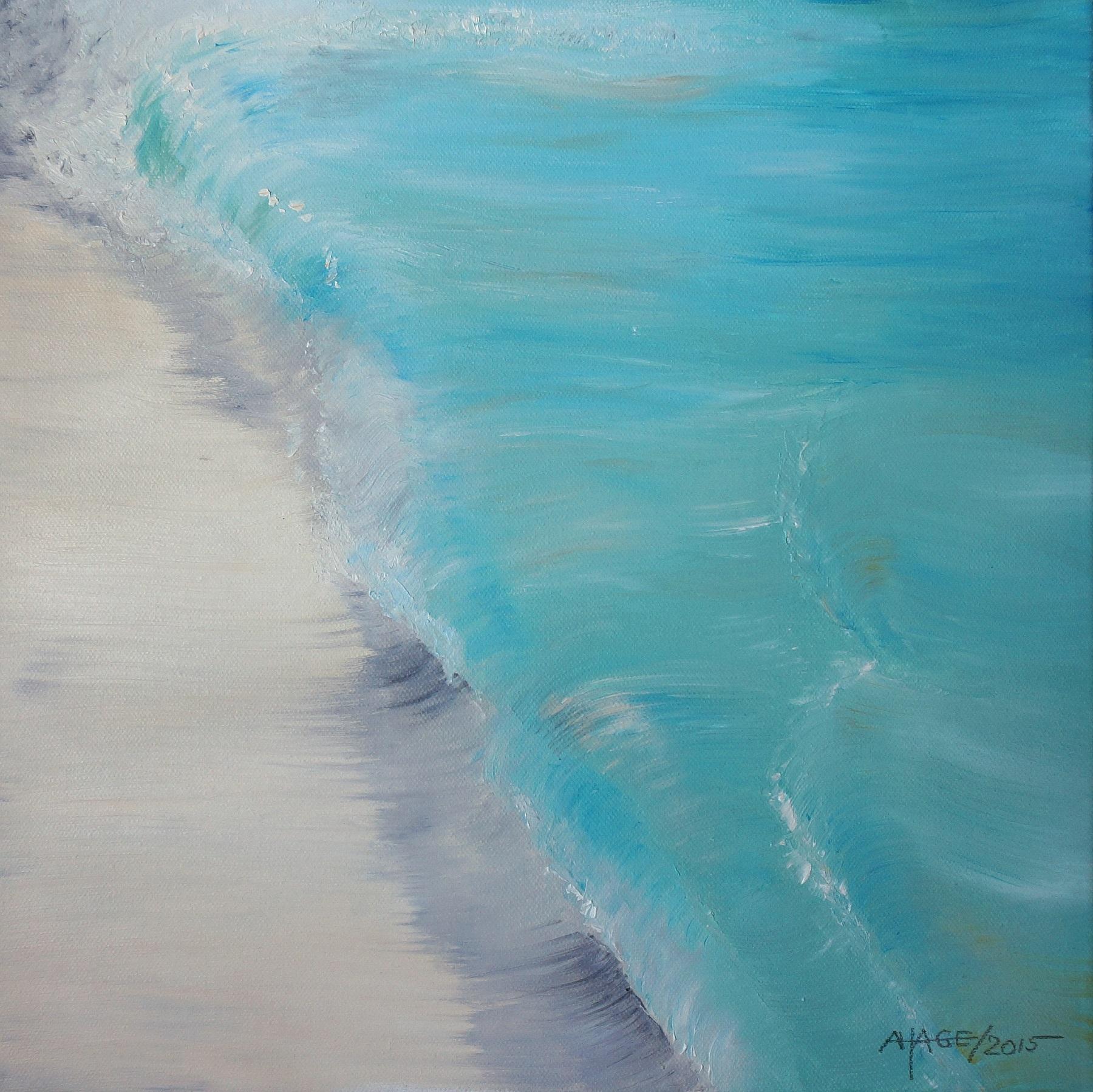 Beach | Öl auf Leinwand | 40 x 40 cm