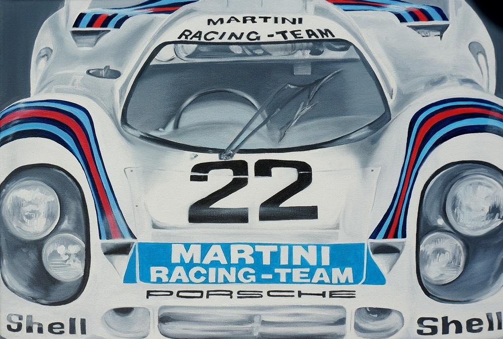 Martini Racing Team | Öl auf Leinwand | 40 x 60 cm