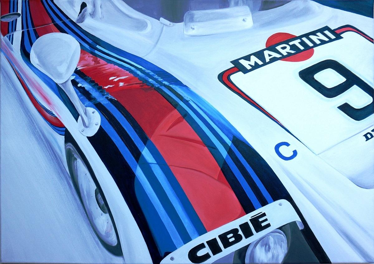 Martini Porsche | Öl auf Leinwand | 50 x 70 cm