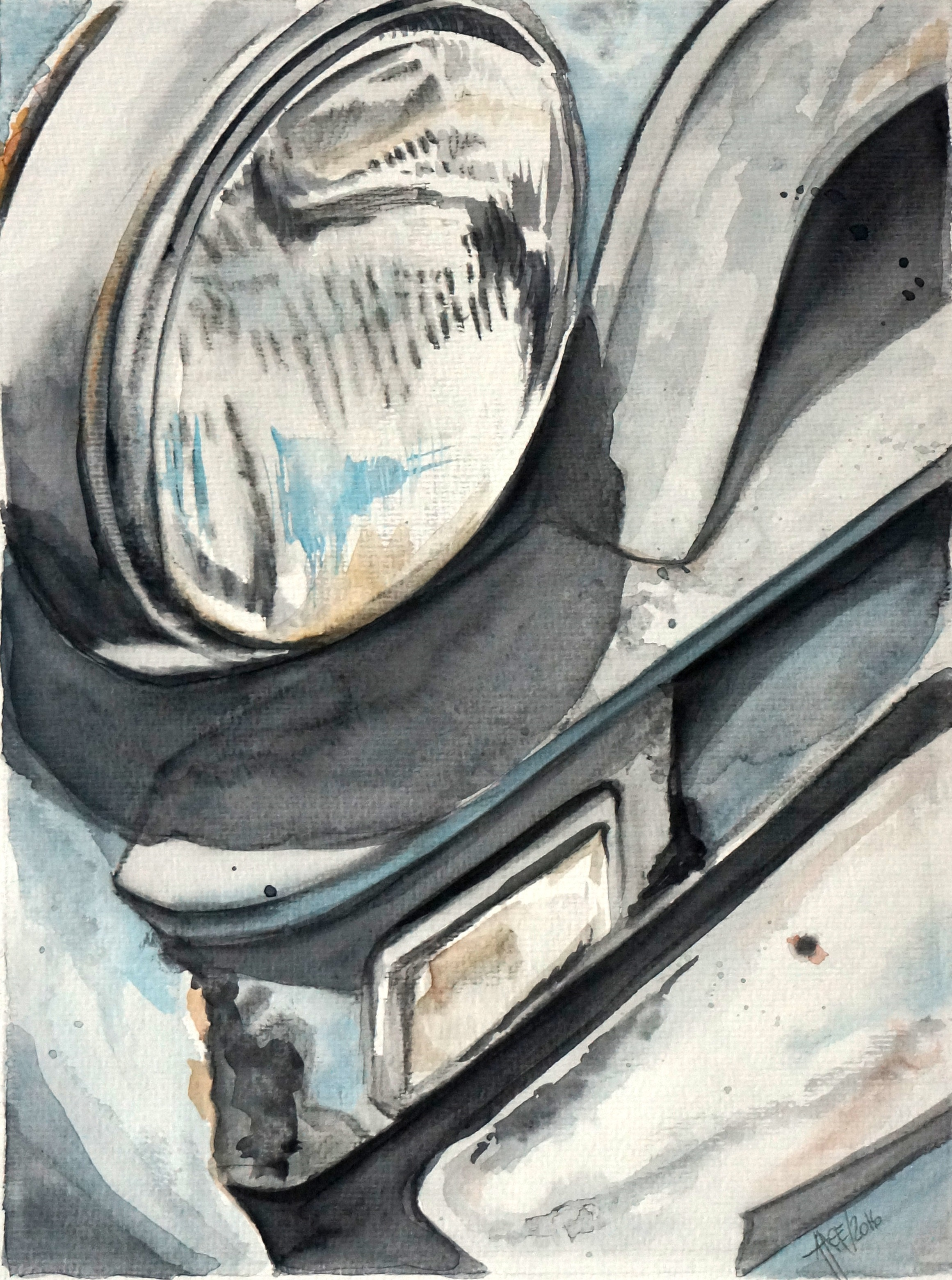 Rusty Car | Aquarelle | 30 x 40 cm