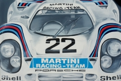 Martini Racing Team   Öl auf Leinwand   40 x 60 cm