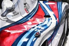 Martini Porsche   Aquarell   30 x 40 cm